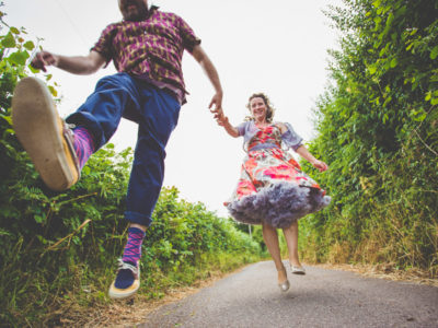 Alternative Wedding Photographer Wales : Festival Wedding - Alex & Amy