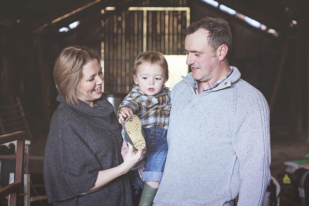 Farming family photography