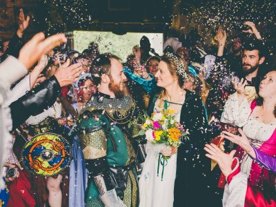 Medieval Themed Usk Castle Wedding : Anja & Luke